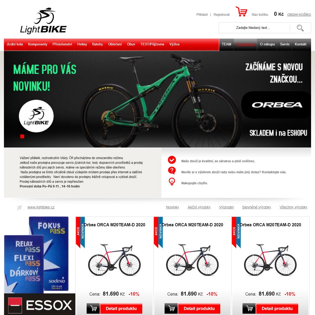 LightBike - Vaše speciálka na cyklistiku a běh