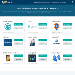 Product Research & Comparison - Pandia.com