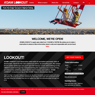A`DAM Lookout - Amsterdam Observatory & Sensational Swing