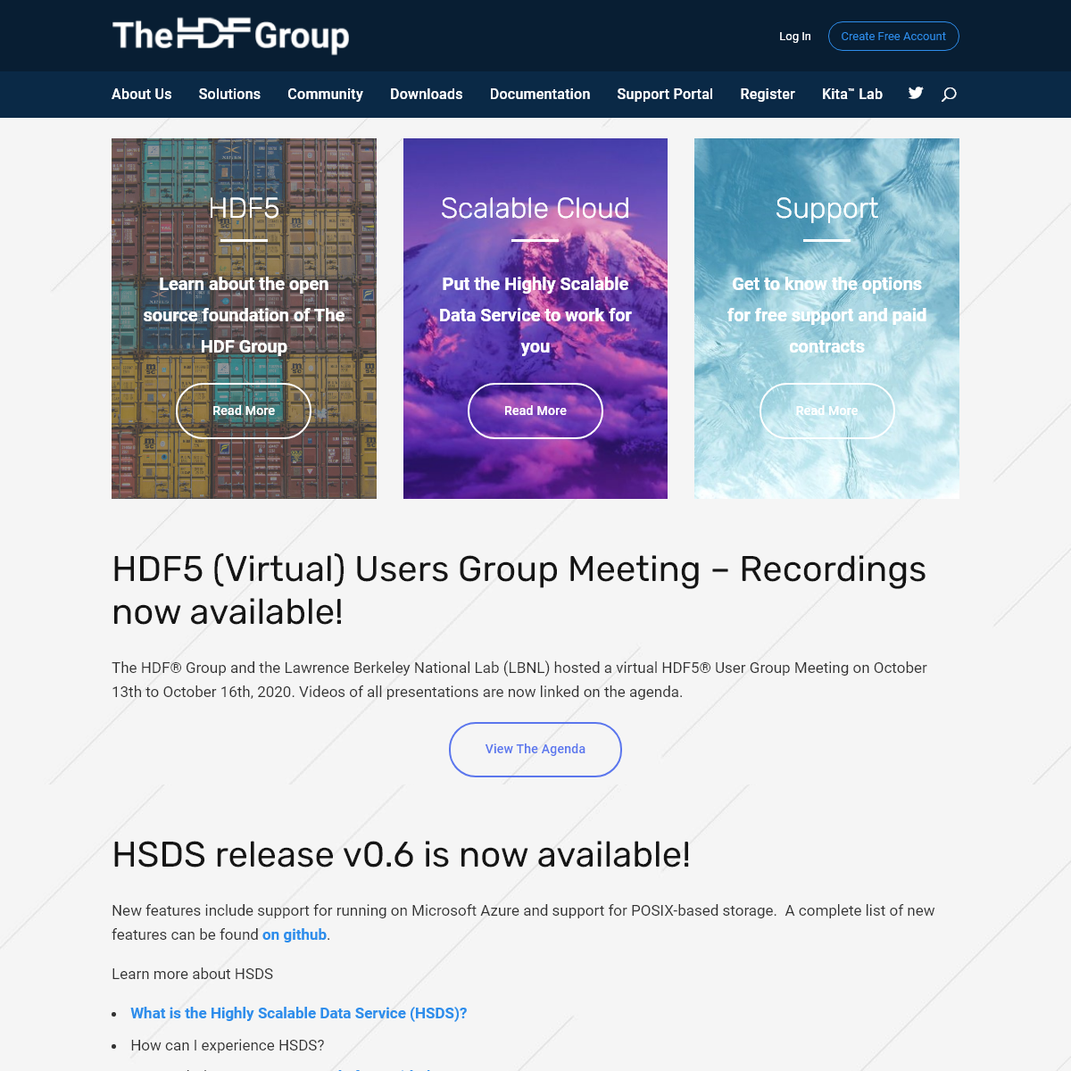 The HDF Group - ensuring long-term access and usability of HDF data and supporting users of HDF technologies