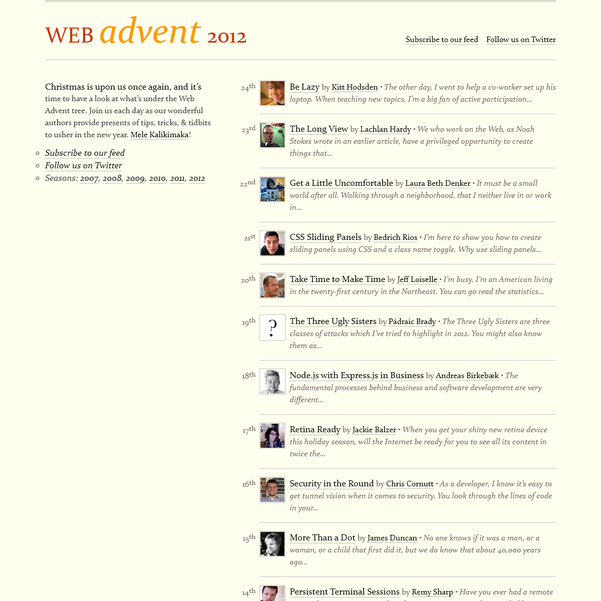 Web Advent 2012