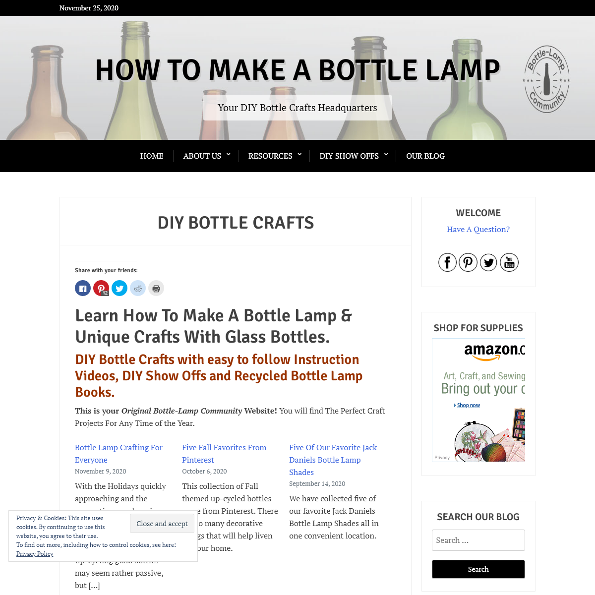 Bottle Lamp & DIY Bottle Crafts Videos & Inspirations