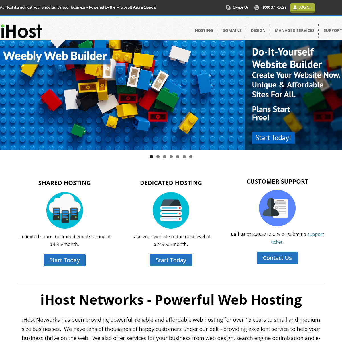 iHost - Web site hosting, domain registration - At iHost it`s not just your website, it`s your business – Powered by the Micro