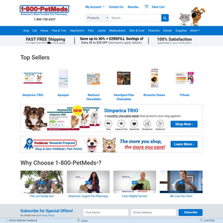 1-800-PetMeds® - America`s Trusted Pet Pharmacy - Save up to 30-