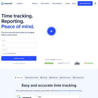 Hubstaff - Time Tracking and Productivity Monitoring Tool