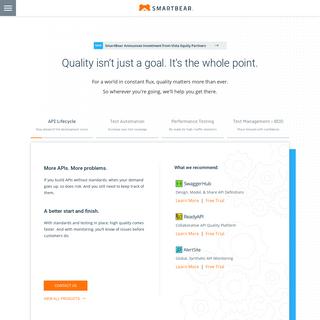 Software Testing, Monitoring, Developer Tools - SmartBear