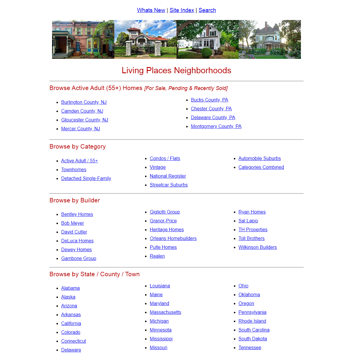 Living Places- USA Residential Neighborhoods from the 18th through 21st Centuries