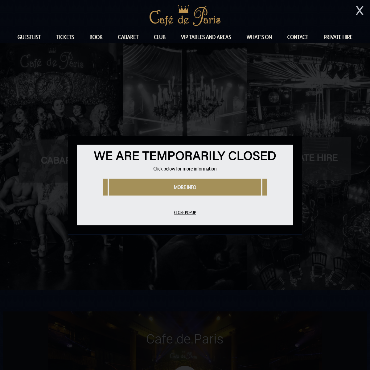 Cafe De Paris - Homepage - Piccadilly Circus - London - Club - Cabaret