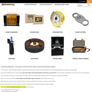 Buy Cigar Humidors and Humidor Accessories - Cheap Humidors