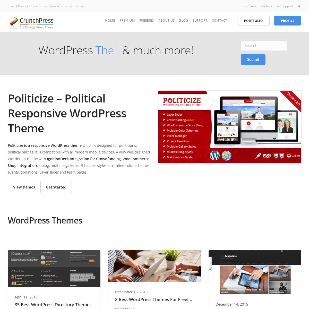 Best WordPress Themes - CrunchPress