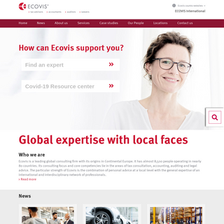 Global expertise with local faces - ECOVIS International