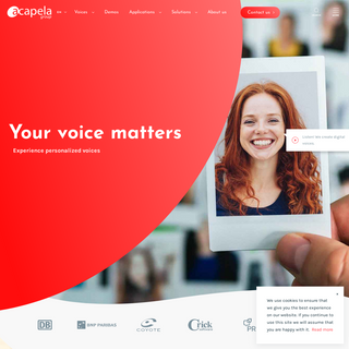 Acapela Group- Text To Speech (TTS) solutions, personalized voices