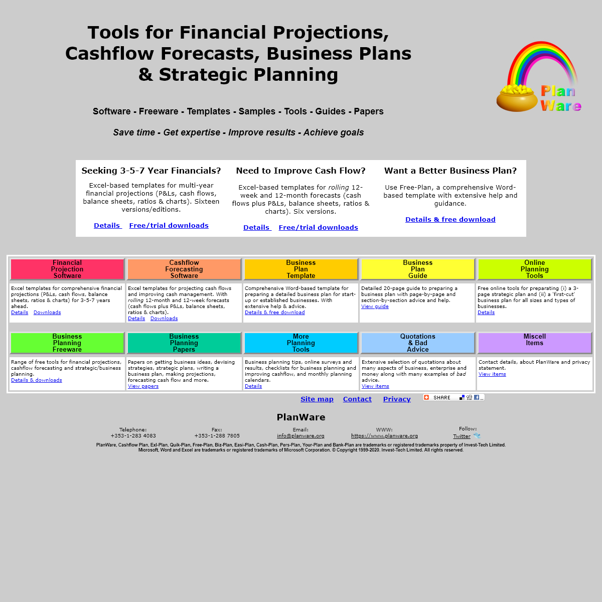 Free Business Plan Software, Financial Projections, Cash Flow Planning & Business Planners