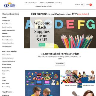 Teacher Supplies - Classroom Supplies- K12SchoolSupplies.net