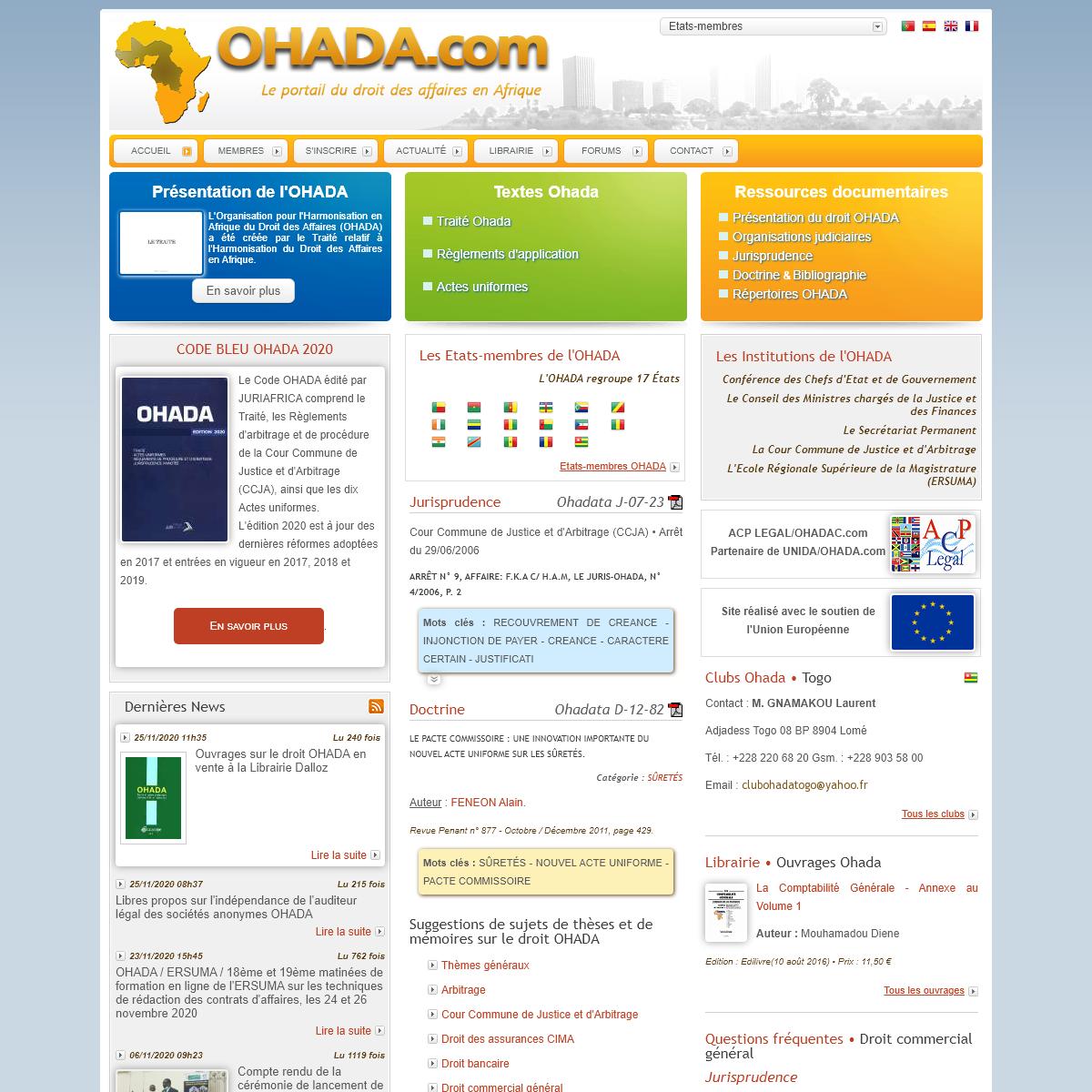 OHADA.com • Le portail du droit des affaires en Afrique