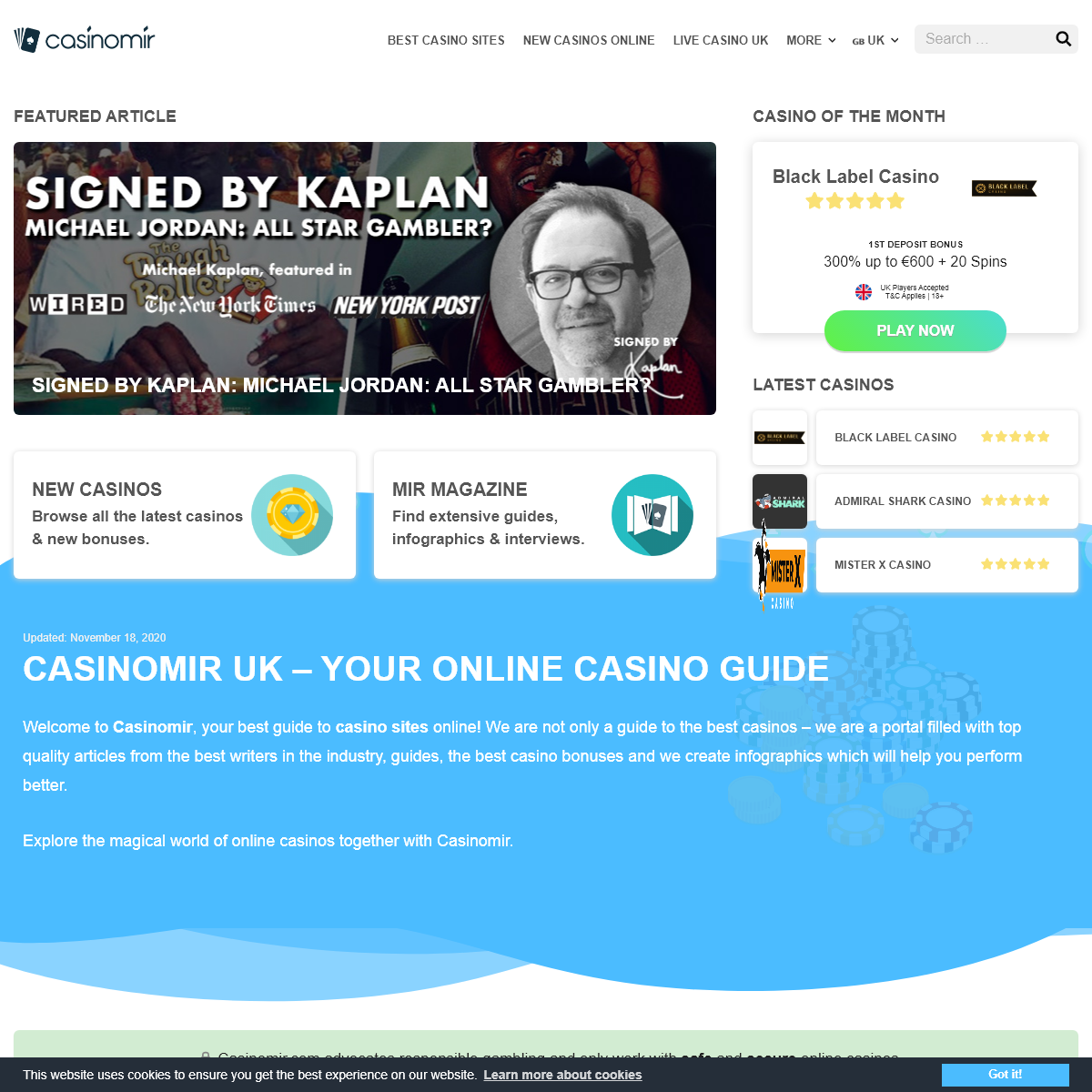 Casinomir UK - Your Guide to the World of Online Casinos