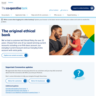 Personal banking - Online banking - The Co-operative Bank