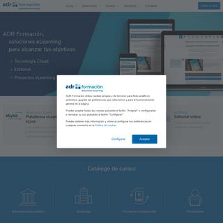 Cursos online y soluciones e-learning - ADR Formación