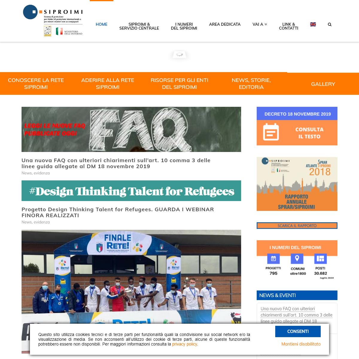 SIPROIMI - Sistema di protezione per titolari di protezione internazionale e per minori stranieri non accompagnati