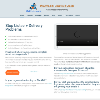 Private Email Discussion Groups - Group Mailing List Service