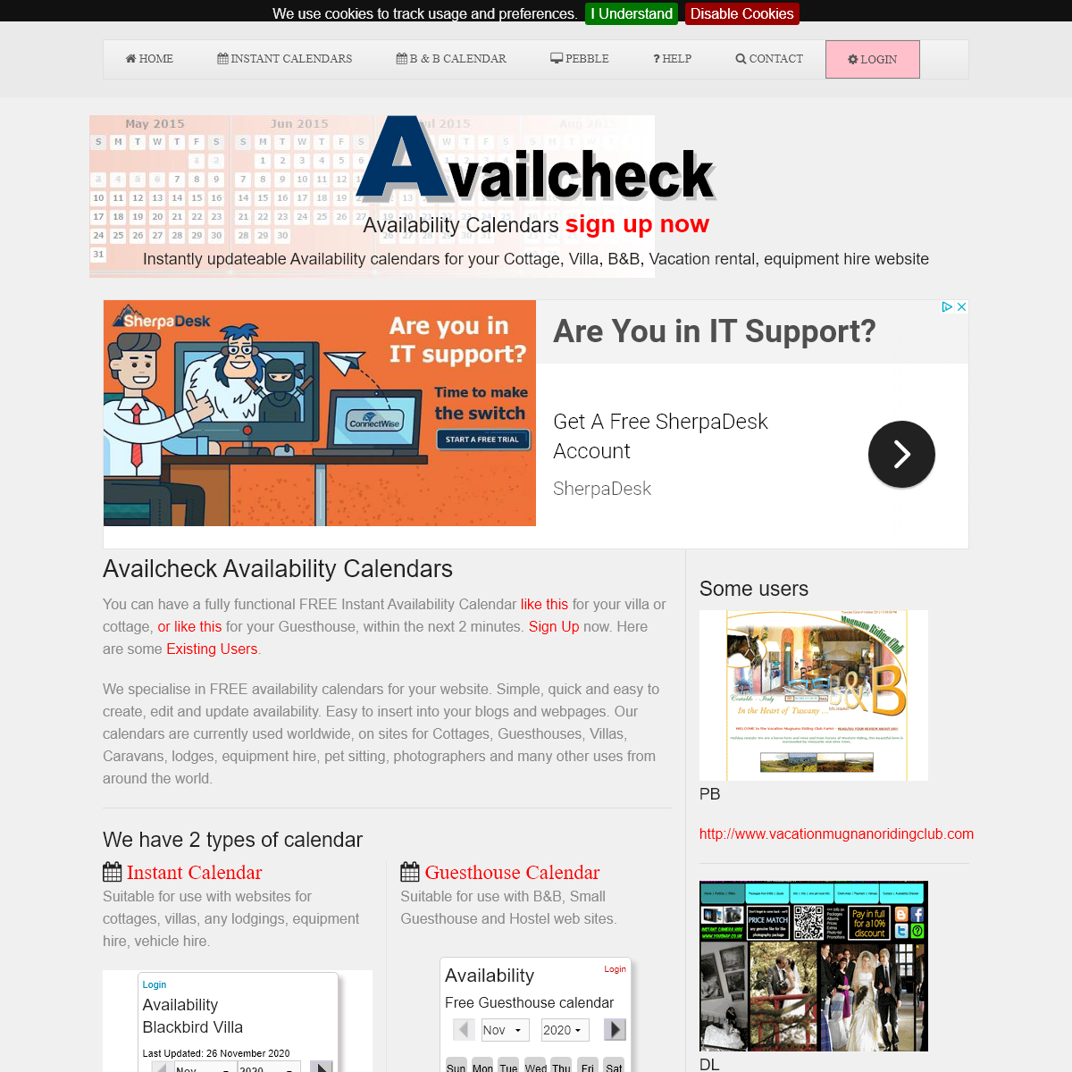 Availcheck FREE Availability Calendars
