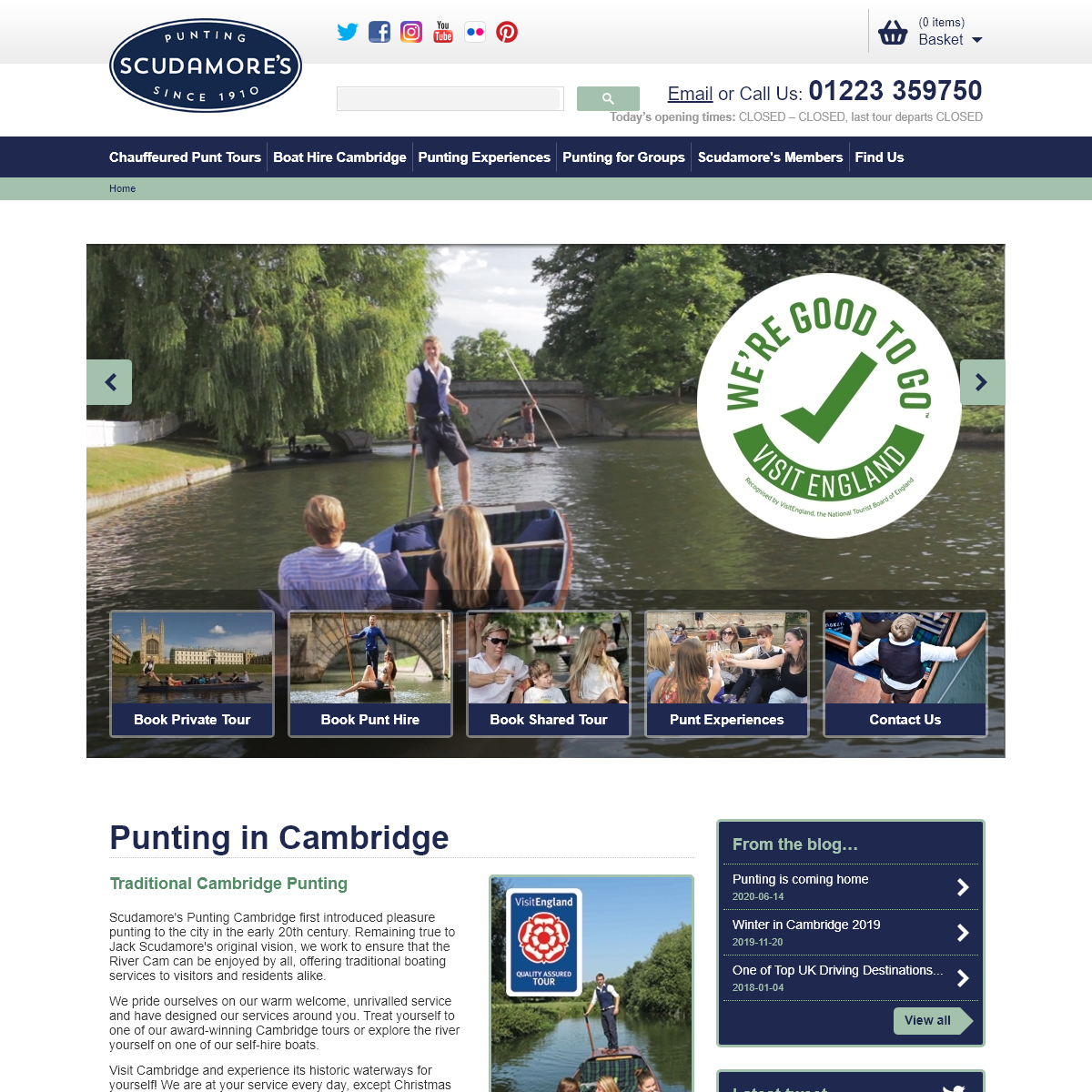 Punting Cambridge with Scudamore`s