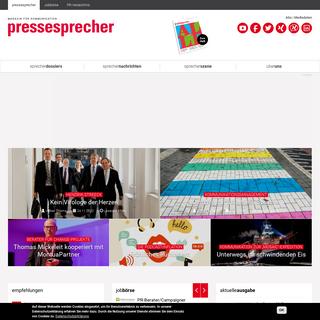 pressesprecher - Magazin für Kommunikation