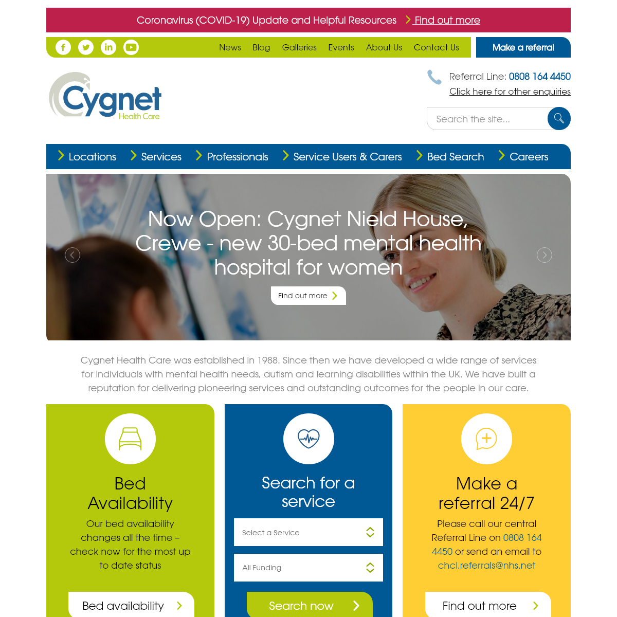 Cygnet Health Care - A leading provider of mental health, autism and learning disability services