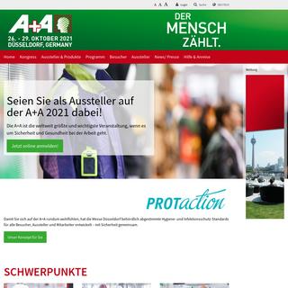 A+A 2021 -- A+A - 26. bis 29. Oktober 2021 - Messe Düsseldorf