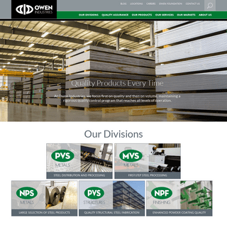 Metal Fabrication, Forming, & Finishing - Owen Industries