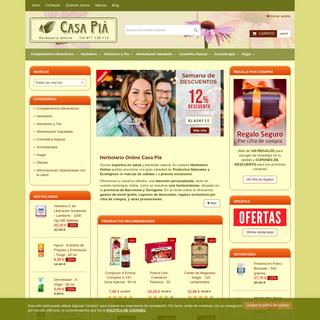 Herbolario Online, Plantas Medicinales, Tés - Herbolario Casa Pià
