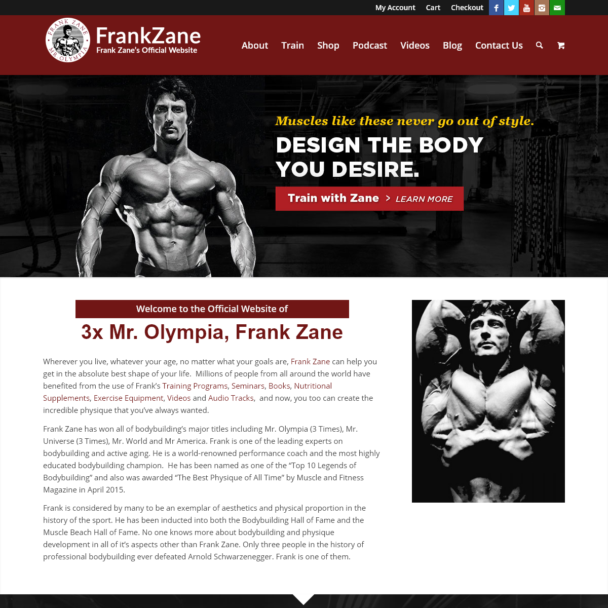The Official Website of Frank Zane - 3x Mr. Olympia