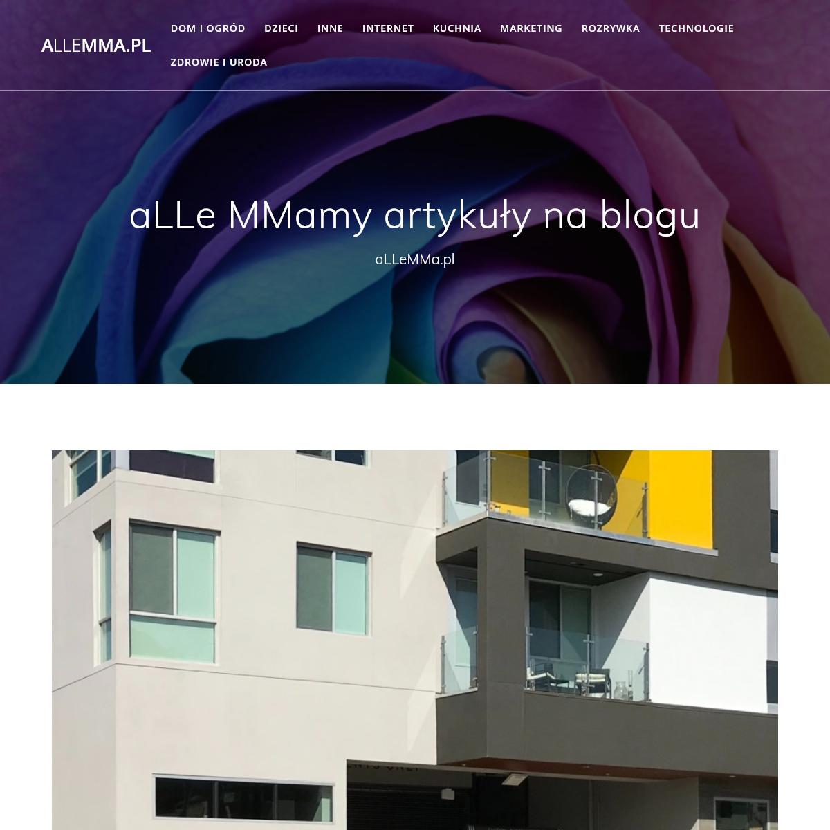 aLLeMMa.pl – aLLe artykuły MMamy na blogu