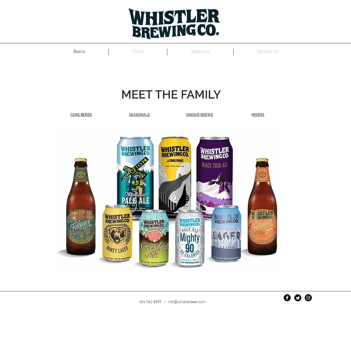 Beers - Whistler Brewing Company