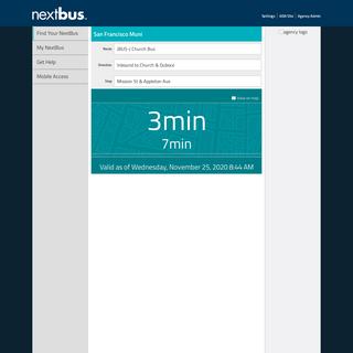NextBus - 3 & 7 min