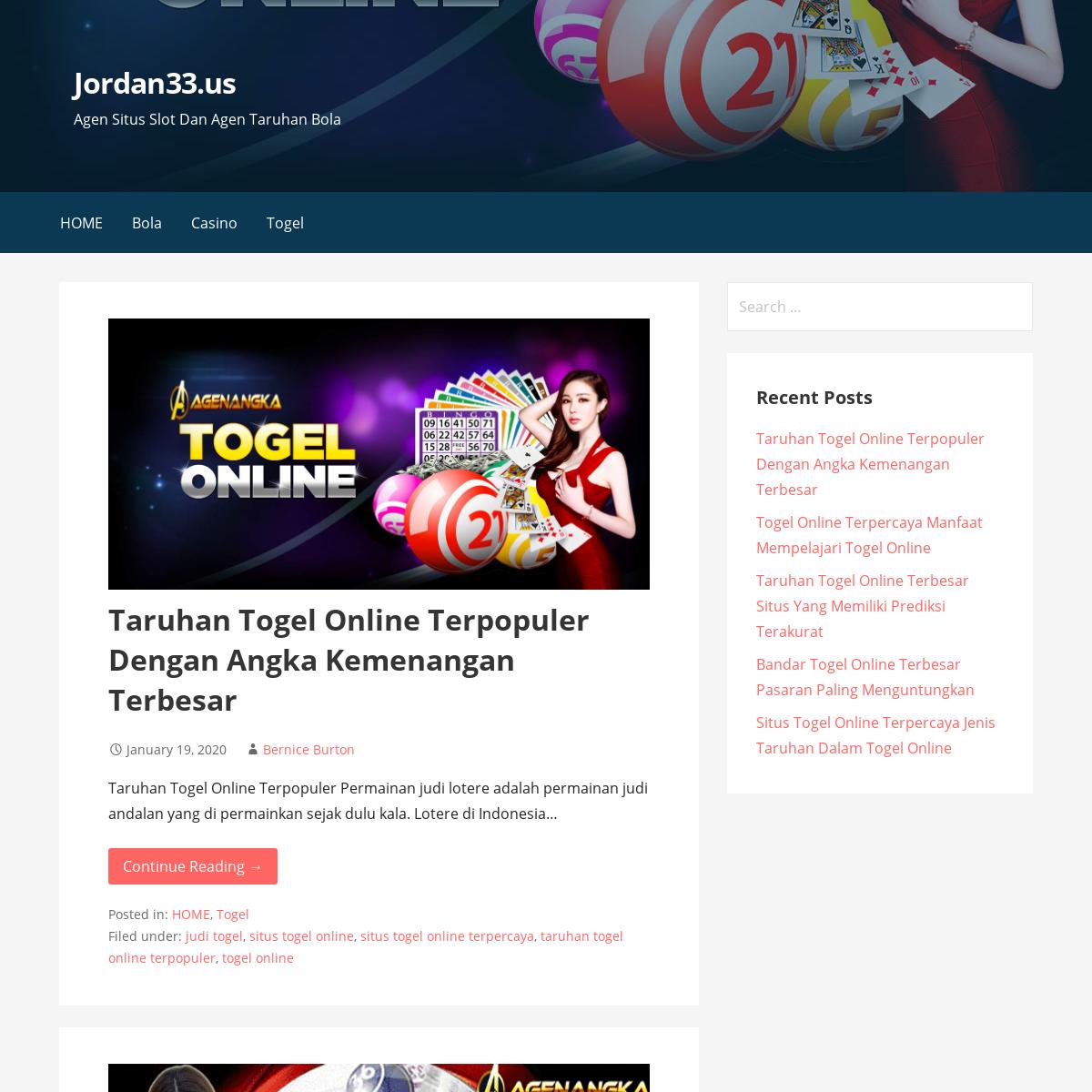 Bandar Taruhan Judi Slot - Agen Judi Bola - Situs Taruhan Togel