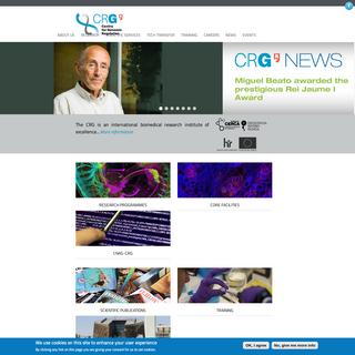 Centre for Genomic Regulation Website