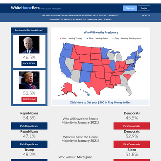 White House Election Betting - Official Site - WhiteHouse.com