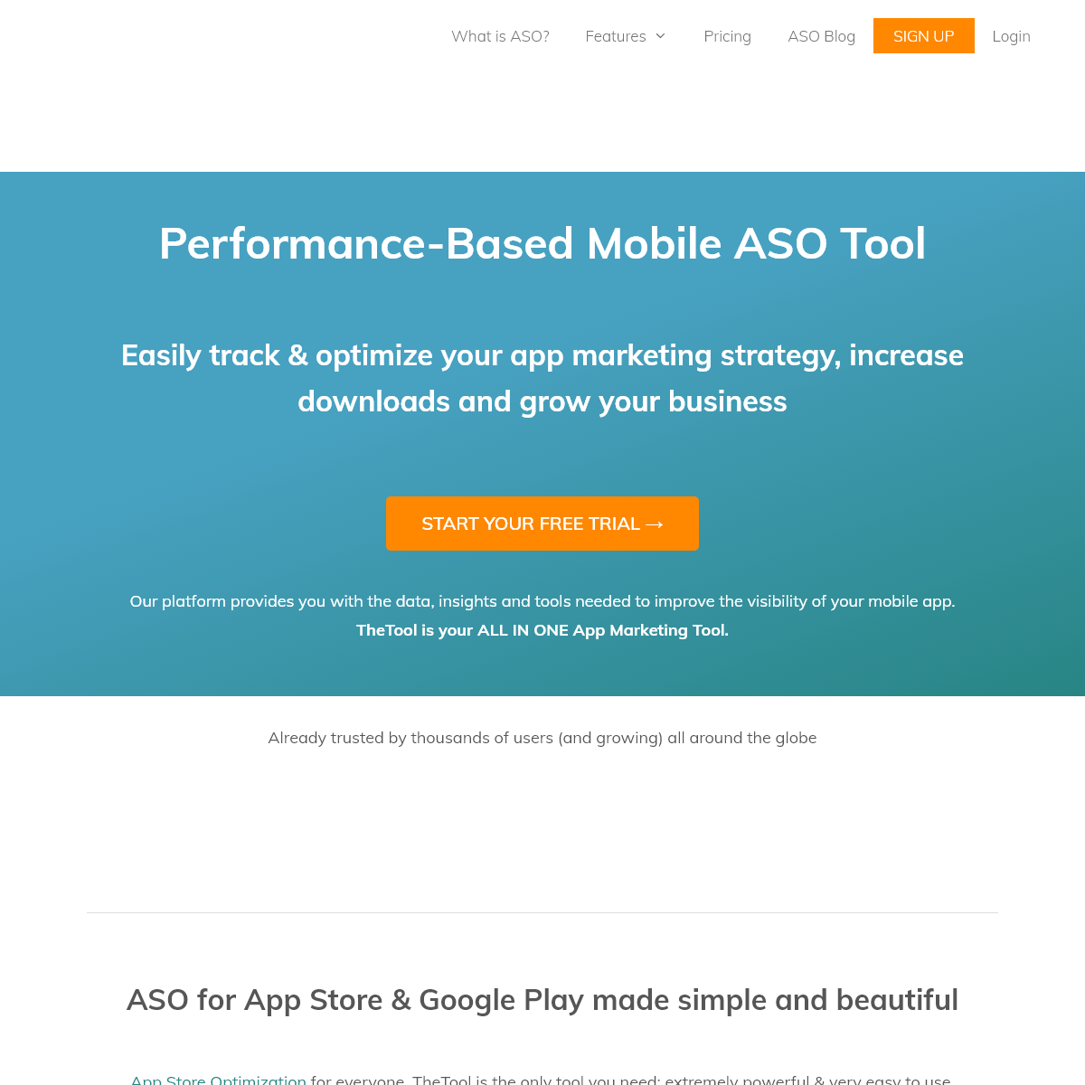 TheTool #1 ASO Tool 🥇 App Store Optimization for iOS & Android