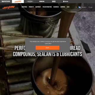 Industrial Lubricants, Sealants & Compounds Manufacturer - Jet-Lube