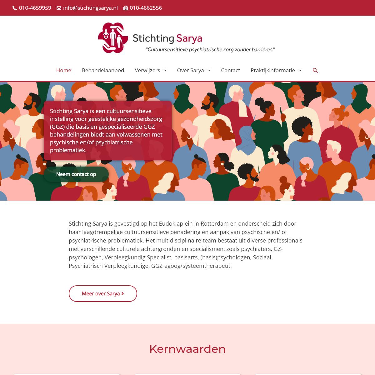 Sarya- Cultuursensitive psychiatrische zorg zonder barrières