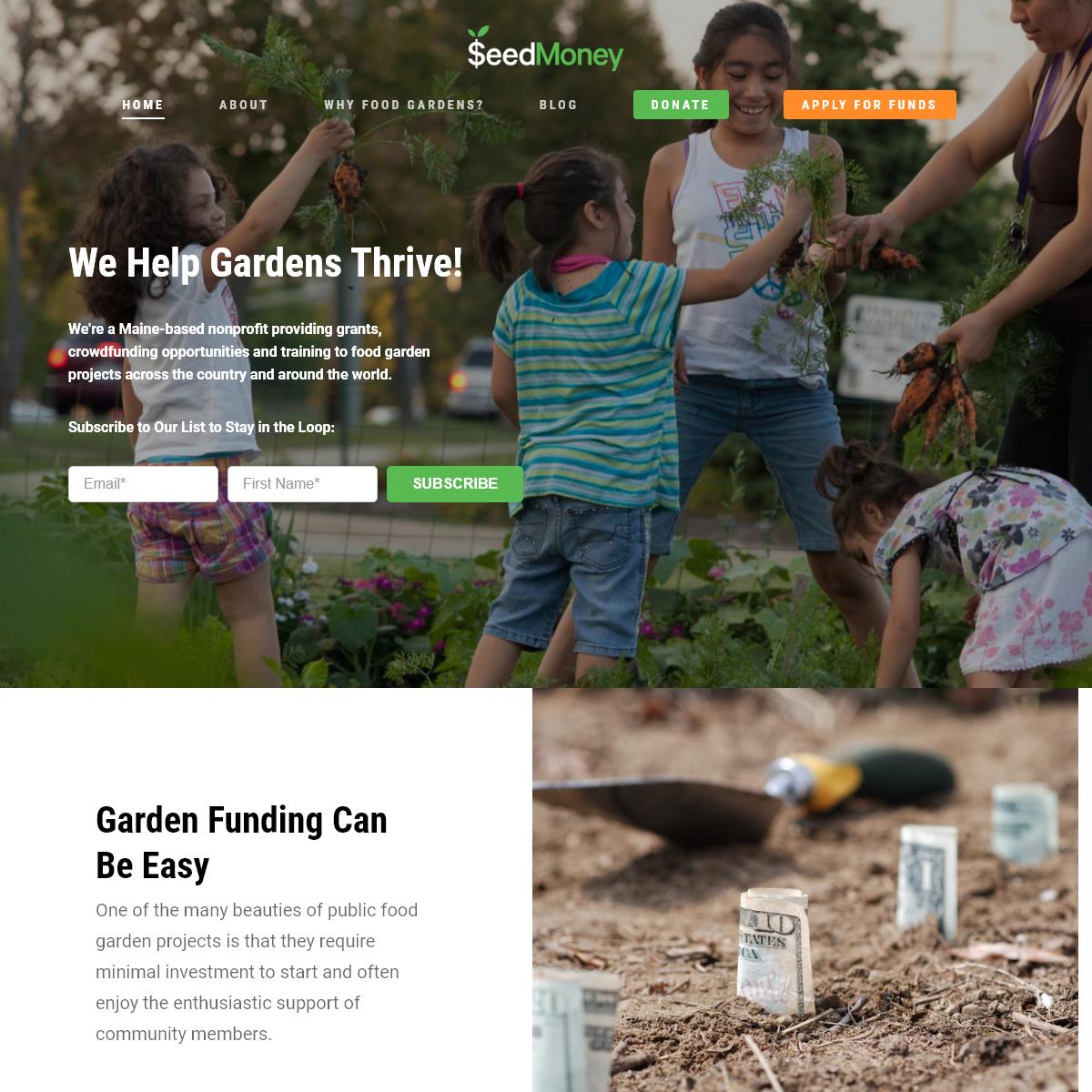 Garden Grants and Crowdfunding- SeedMoney Can Help You Grow!