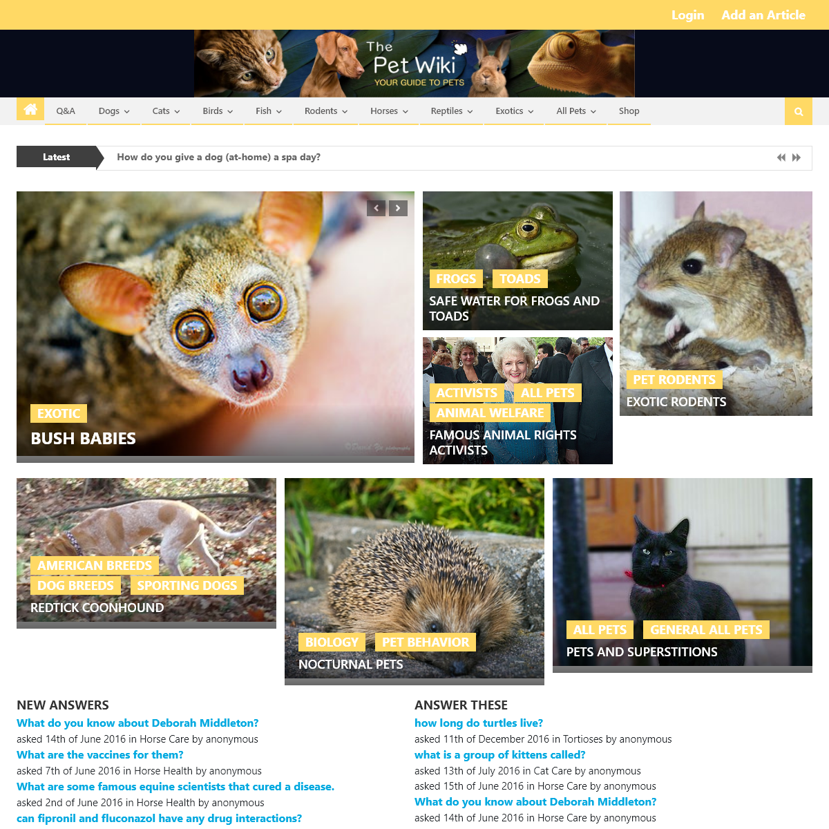 Home Page - The Pet Wiki