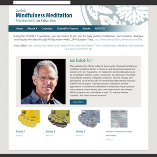 Mindfulness Meditation - Guided Mindfulness Meditation Practices with Jon Kabat-Zinn