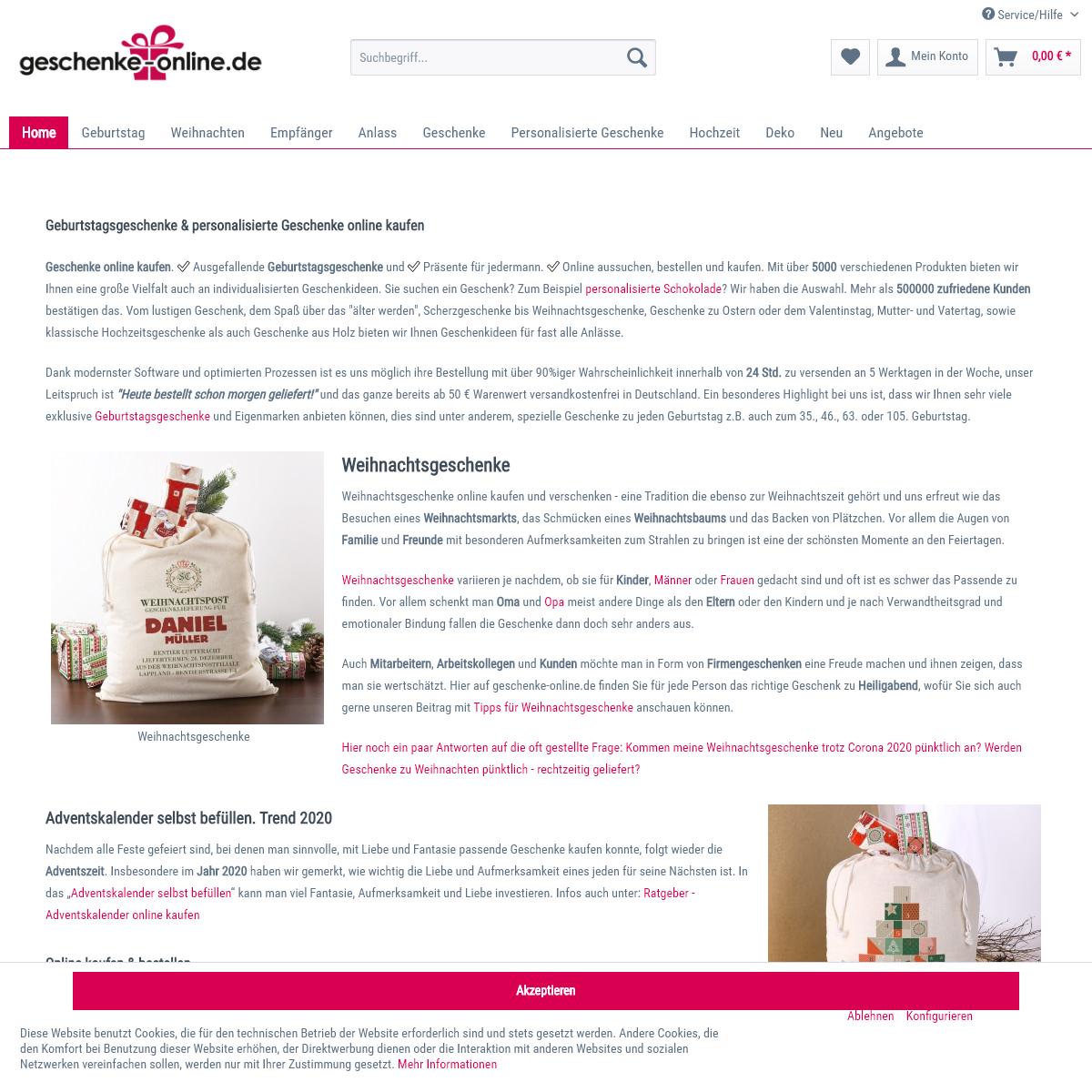 Geschenke online - Einfach Freude schenken
