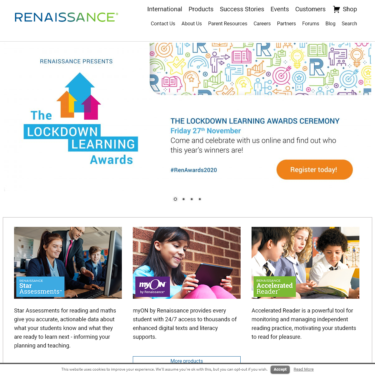 Renaissance Learning - Computer-adaptive assessment and personalised practice in reading and maths.