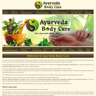 Welcome to Ayurveda Body Cure - what Is ayurveda-, history of ayurveda, treatment in ayurveda, meaning of ayurveda