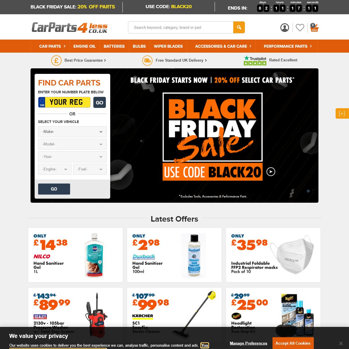 Cheap Car Parts Online - Car Parts 4 Less UK - Big Brands, Low Prices