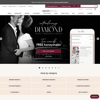 Wedding Dresses, Bridesmaid Dresses & Gowns - David`s Bridal