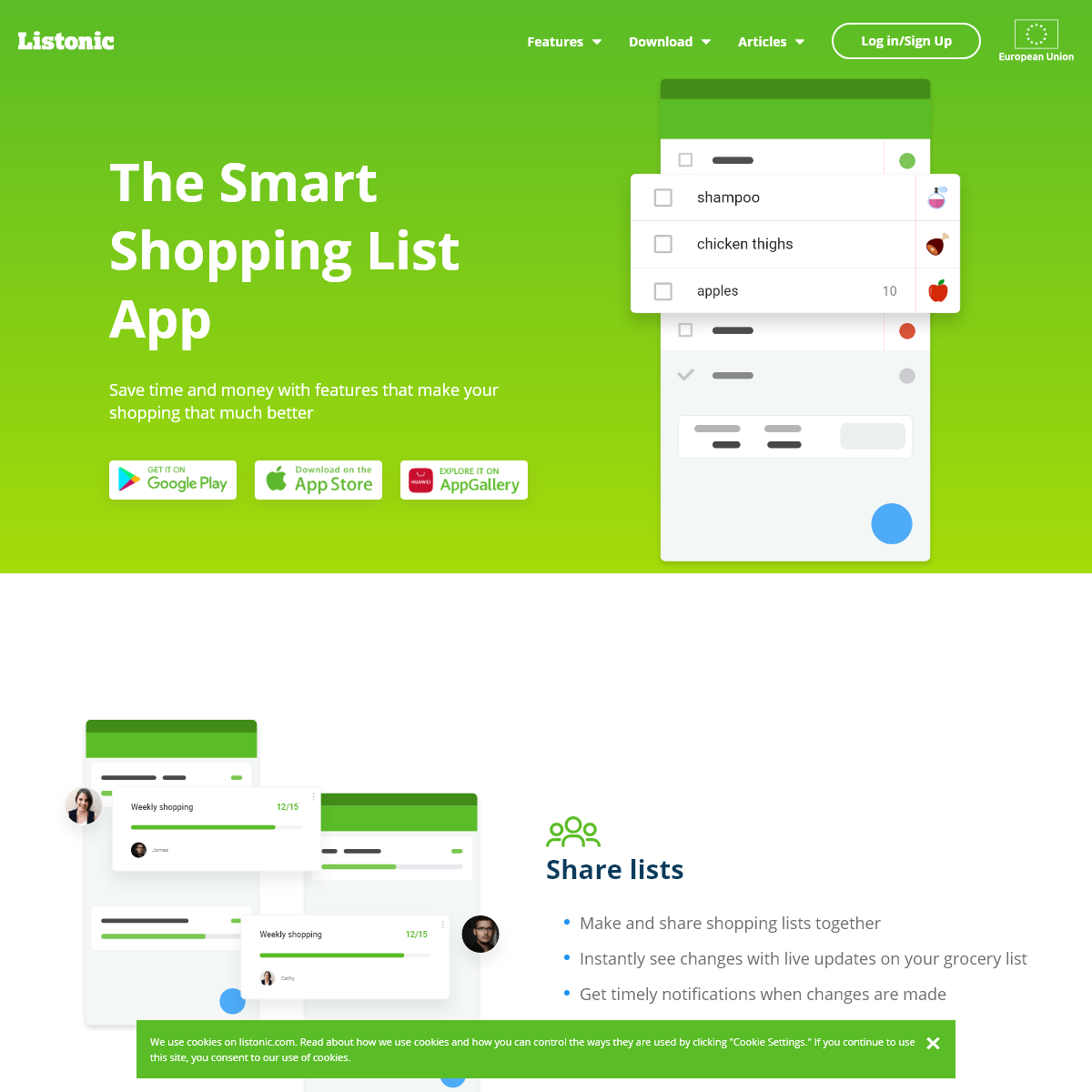 The Smart Shopping List App for Android, IOS, Online - Listonic